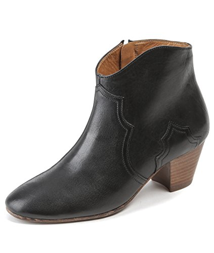 isabel-marant-womens-real-leather-cowboy-ankle-boots-37-black
