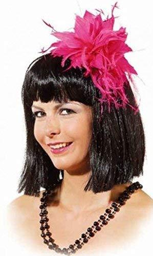 Ladies Pink Feather 1920s Flapper Burlesque Headpiece Mini Hat Fancy Dress Costume Outfit -