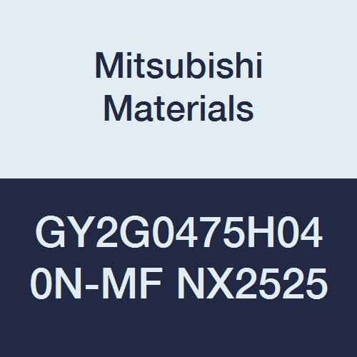 0.187 Grooving Width 0.016 Corner Radius H Seat Mitsubishi Materials GY2G0475H040N-MF NX2525 Series GY Cermet Grooving Insert for Multifunctional and Finishing 2 Teeth Pack of 10