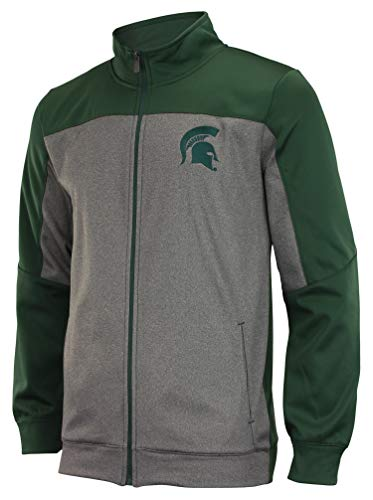 Michigan Mens Track Jacket - Outerstuff NCAA Men's Helix Full ZipTrack Jacket, Michigan State Spartans Large
