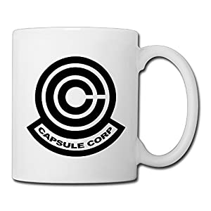 Christina Dragon Ball Capsule Corporation Logo Ceramic Coffee Mug Tea Cup White