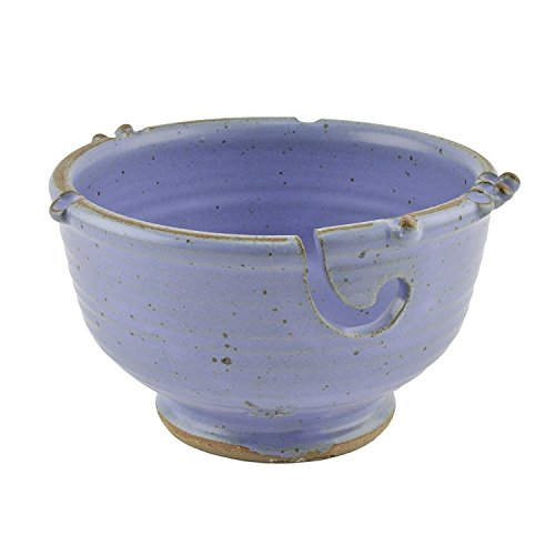 Anthony Stoneware Handmade Knitting or Crochet Yarn Bowl, Lavender by Christina Home Designs