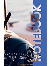 Notebook: Gyro Compass Convenient Composition Book for Small Sailboats sailors