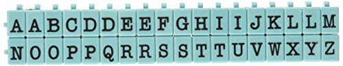 (Contact USA Upper Alpha Medium 36ct Pegz Upperase Alphabet Stamp Set, Tiffany)
