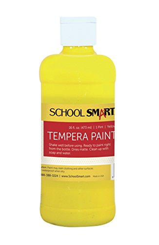 School Smart Tempera Paint - Pint - Yellow by School Smart