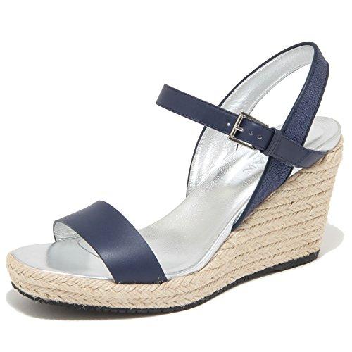 sandalo blu woman zeppa sandals donna HOGAN Blu 9842M scarpe shoes BnxdqwOdS8