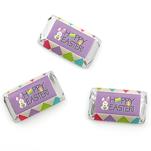 Big Dot of Happiness Hippity Hoppity - Mini Candy Bar Wrappe