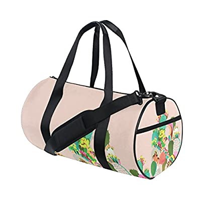 06417036bfc6 60%OFF Canvas Sport Duffel Bag Color Cactus gym bag Tote Bag with Shoe  Compartment