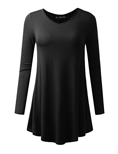 all-for-you-womens-long-sleeve-v-neck-tunic-black-xxx-large