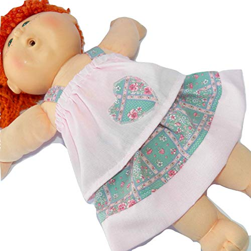 Cabbage Patch Doll Clothes Fits 16 Inch Girl Includes One Pink Appliqued Heart Blouse Skirt Hairribbon No Doll