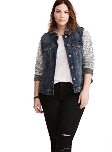 Denim French Terry Jacket