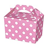 SUPER COOL KIDS POLKA DOT PARTY BOXES - In 6 GREAT COLOURS - PACK OF 10 (happy meal type box) … (Pink)