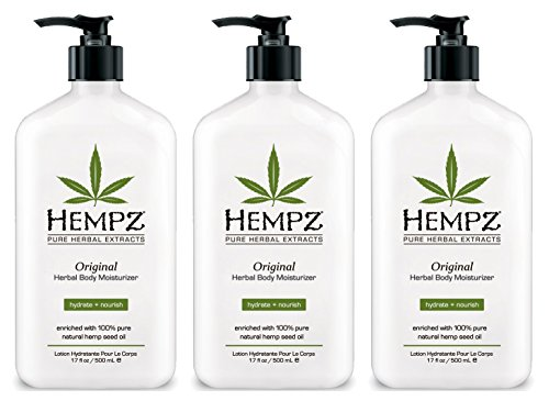 Hempz Lotion Original Herbal Body Moisturizer IHVPs, 3Uni...