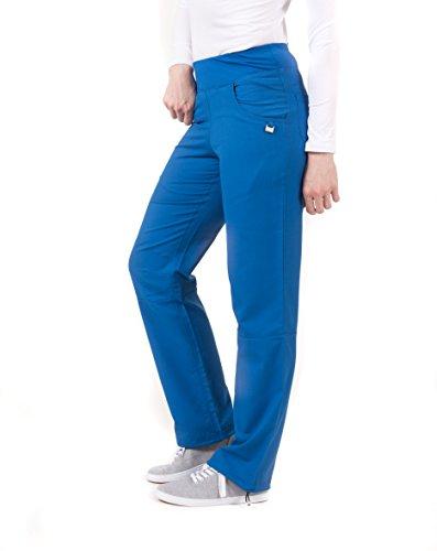 en's Modern Fit Ladies Yoga Inspired Pant- Royal- L ()