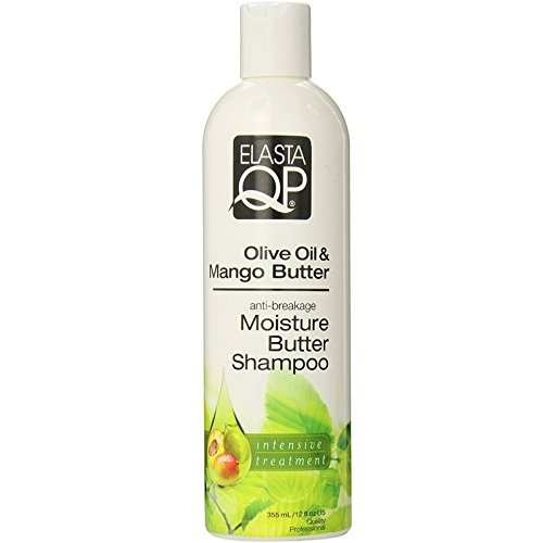 Elasta QP Olive Oil & Mango Butter Moisture Butter Shampoo, 12 oz (Pack of 4)