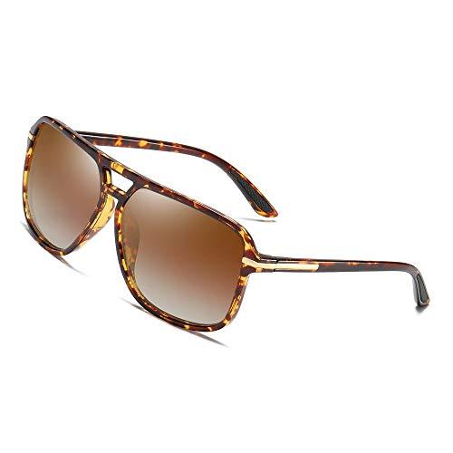 - Polarized Sunglasses for Men Aviator Driving Women Mens Sunglasses Rectangular Vintage Sun Glasses (Brown Lens (Rubber Coating Ear Pieces))