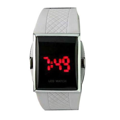 Vktech - Reloj de Pulsera Led Digital para Hombre y Mujer (Blanco): Amazon.es: Relojes