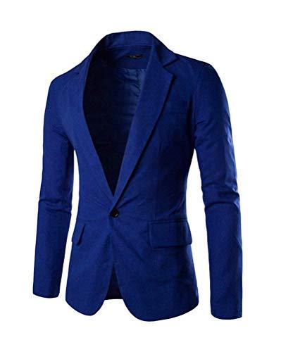 Giacche Da Slim Bottone Suit Elegante Giacca Fit Leisure Uomo Ragazzi Outwear Classiche Autunno Sportiva Saphirblau 1 awSqC7S