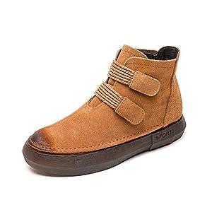 KAOKAOO Unisex Hiking Boot Martin Boots Warm Shoes (Black-Faux-Lable 39/8 B(M) US Women)