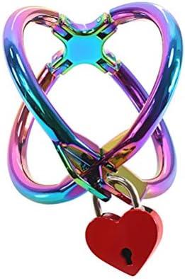 Healifty Hand Fesseln Spielzeug Gekreuzt Handschellen Hand Zwang Bondage Manschette Erwachsenen Legierung Sm Sklave Handschelle für Liebhaber (Bunt)