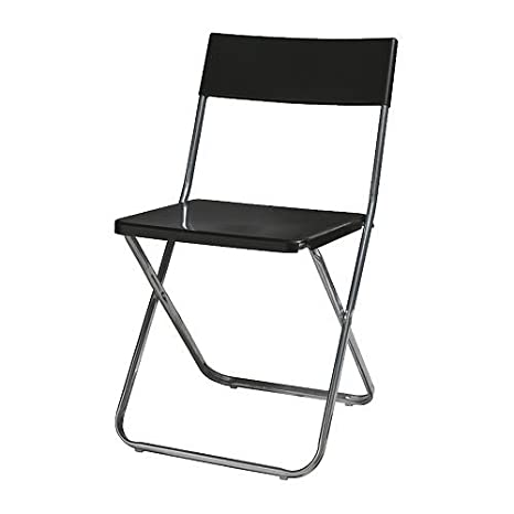 IKEA JEFF - silla plegable, negro: Amazon.es: Hogar