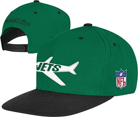 Amazon.com  Mitchell   Ness New York Jets Throwbacks Wool 2 Tone Snapback  Hat One Size Fits All  Sports   Outdoors 76d96a1cf28a