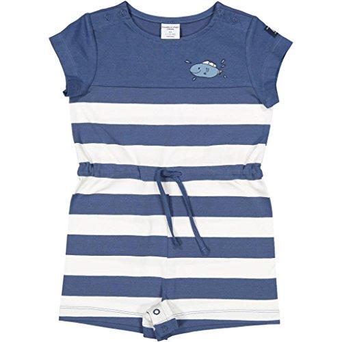 Polarn O. Pyret Bold Stripe Shortall (Baby) - 1.5-2 Years/Ensign Blue (Romper Stripe Bold)