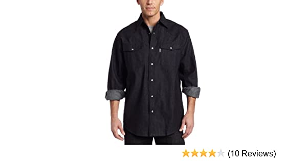 e9a8077ca43 Amazon.com  Carhartt Men s Ironwood Denim Work Shirt Long Sleeve Snap Front  Relaxed Fit  Button Down Shirts  Clothing