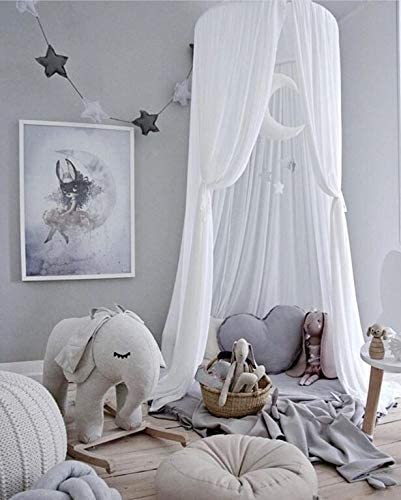 Blue Bed /& Bedroom Decoration, Bed Canopy for Children,Chiffon Mosqutio Net,Baby Indoor Outdoor Bed Canopy for Reading Room