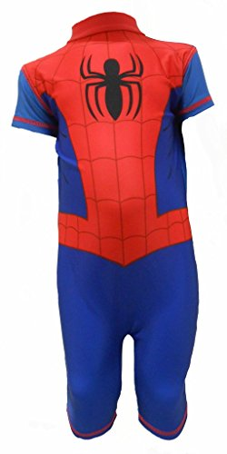 Spider Spiderman Little Boys UV Protection Sunsuit Swimsuit 4-5 (Spider Man Boys Spider)