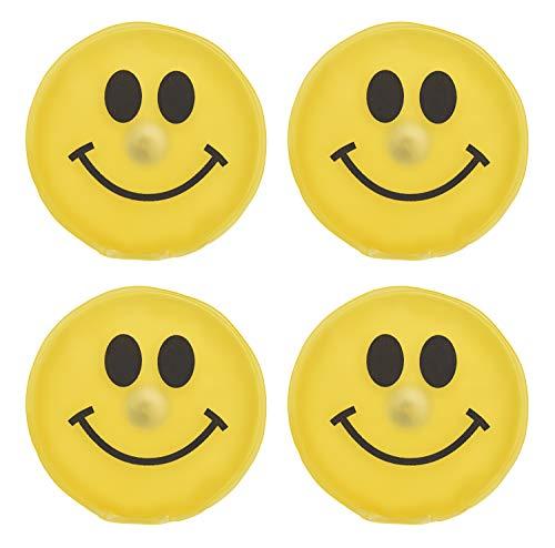 MC-Trend 4er Set Handwärmer Smiley Taschenwärmer Herz für warme Finger gegen kalte Hände im Herbst und Winter, wiederverwendbar