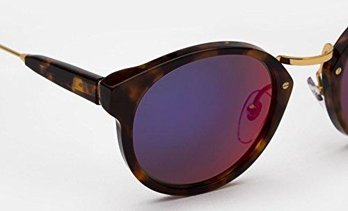 Super Sunglasses Women's Panama Infrared Sunglasses, Burnt Havana/Infrared, One - Sunglasses Super Panama