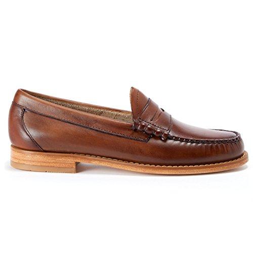 G.H. Bass Larson Burnished-Leather Loafer Brown jky0CZHz