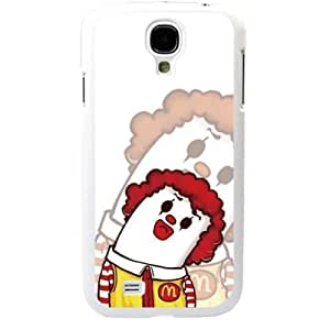 Popular Cute Cartoon Ronald McDonald Samsung Galaxy S4 SIV I9500 TPU Soft Black or White case (White)