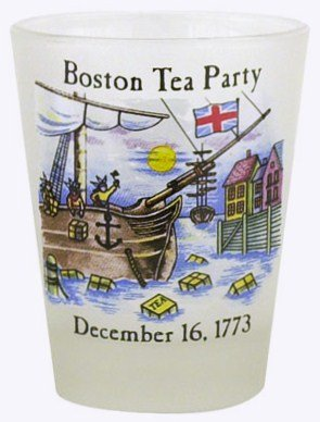Boston Tea Party Historical Shot -