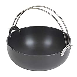 Eugene Tosco Outdoor Camping Cooking Pot Set, Hard Anodized Aluminum, 4-Piece, Black