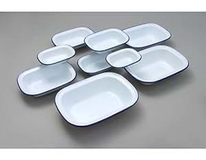 Falcon esmaltada 24cm rectangular plato para tartas