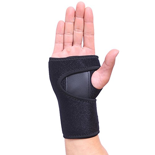 Wrist Brace Oodvj Wrist Support Removable splint Martial Arts, Tennis, Bike, and Motorcycle , Prevention Wrist Injury,Carpal Tunnel Syndrome,Wrist Pain One size fits most (Right Hand)-Black
