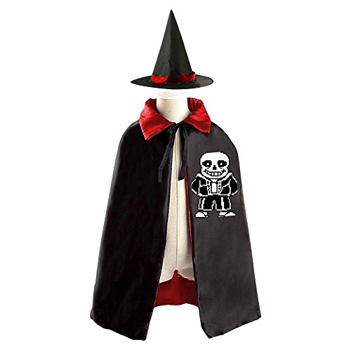 Diy Boy Mummy Costume - A cruel boy Kids Hallowmas Undertale Black Cloak or Cape with Hood