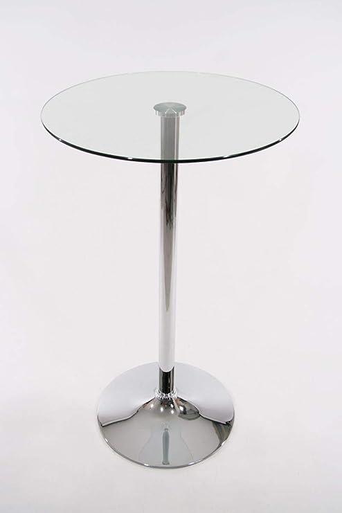 Stehtisch Rund Glas.Stehtisch Transparent Rund Glas 104 Cm Bistrotisch Tisch Bartisch