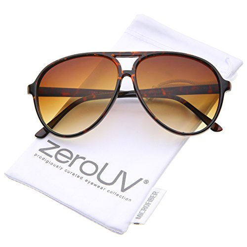 Retro Large Teardrop Shaped Lens Aviator Sunglasses 60mm ()