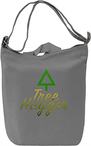 Tree Huger Borsa Giornaliera Canvas Canvas Day Bag| 100% Premium Cotton Canvas| DTG Printing|