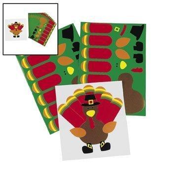 Make-A-Turkey Stickers