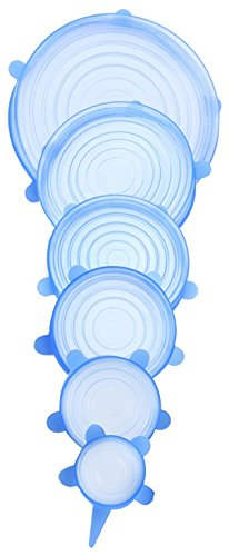 Silicone Stretch Lids, 6 Pack Stretchable Reusable Food Saver, Silicone Bowl Covers