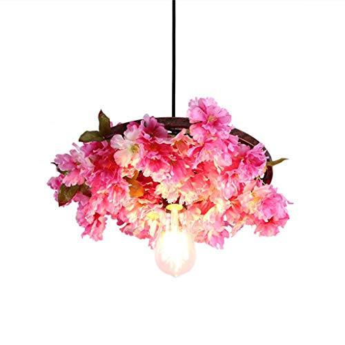 Chandeliers Simulation Cherry Blossom Party Bedroom Restaurant Living Room Decoration (Color : Pink, Size : 5845cm) ()