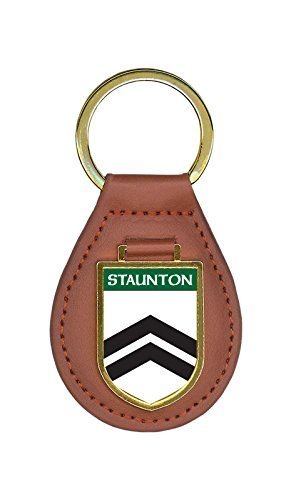 Staunton Family Crest Coat of Arms Key Chains