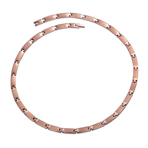 Hottime Export to Korea and Japan Genuine 100% Titanium 99.9999% Germanium Necklace SGS authentication (Rose Gold) ()