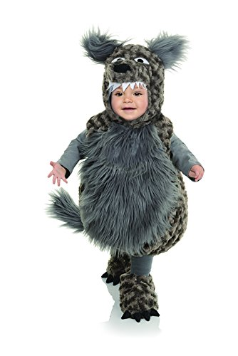 Little Girl Wolf Costume (Underwraps Baby's Wolf Belly, Dark Grey,)