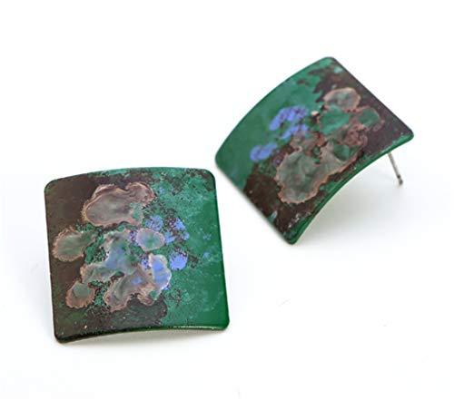 - LOSOUL Stud Earrings for Women and Girls Colorful Enamel Print