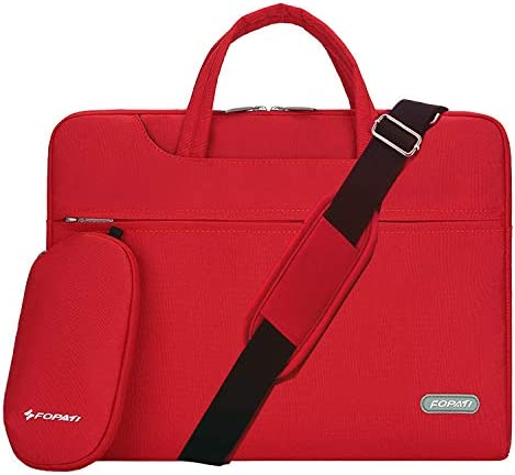 ZWJJQBJBB Laptop Bag Notebook Shoulder Bag Men and Women Large-Capacity Waterproof Can Be Placed Trolley Case Shockproof Business Travel Notebook Bag Color : C, Size : 15.6 inches